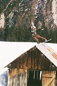Rich Ewbank attacking a barn