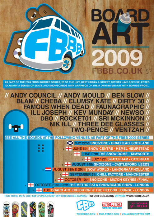 Tour dates and venues for the FBBB series 2009