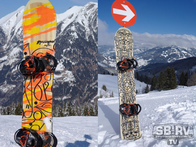 Left: 2013 Rossignol Krypto. Right: 2012 Rossignol Experience